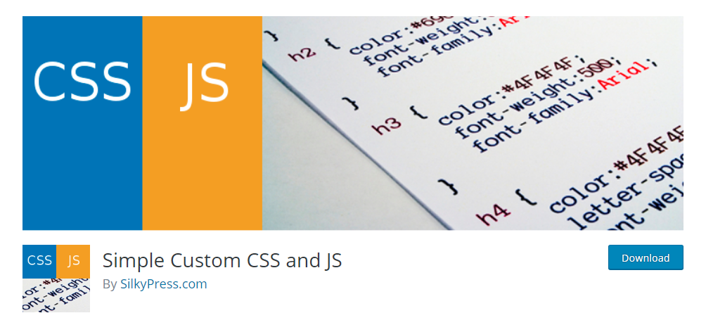 Simple Custom CSS and JS - CSS editor plugin