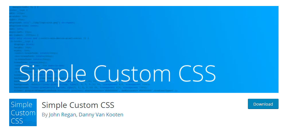 Simple Custom CSS - CSS editor plugin