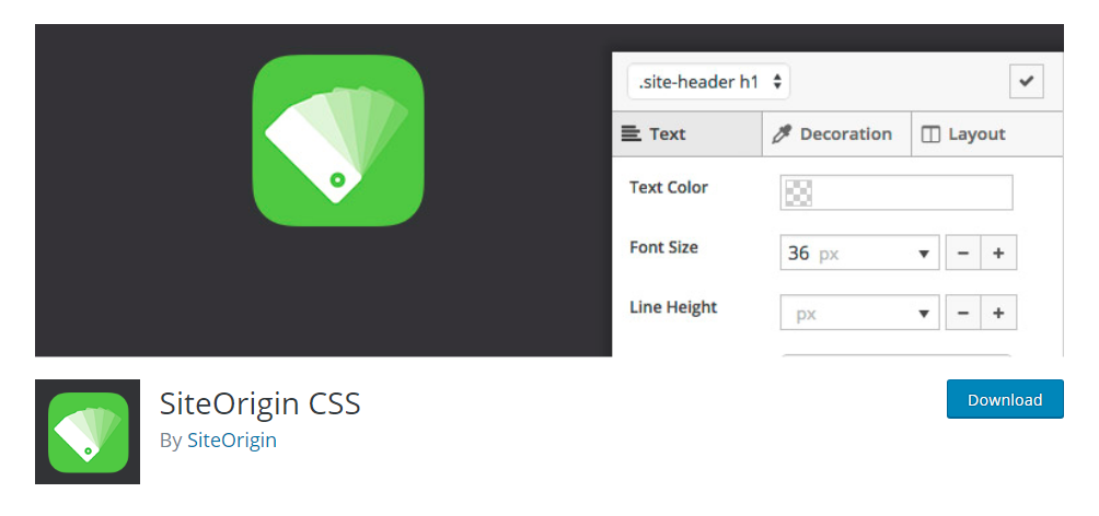 SiteOrigin CSS - CSS editor plugin