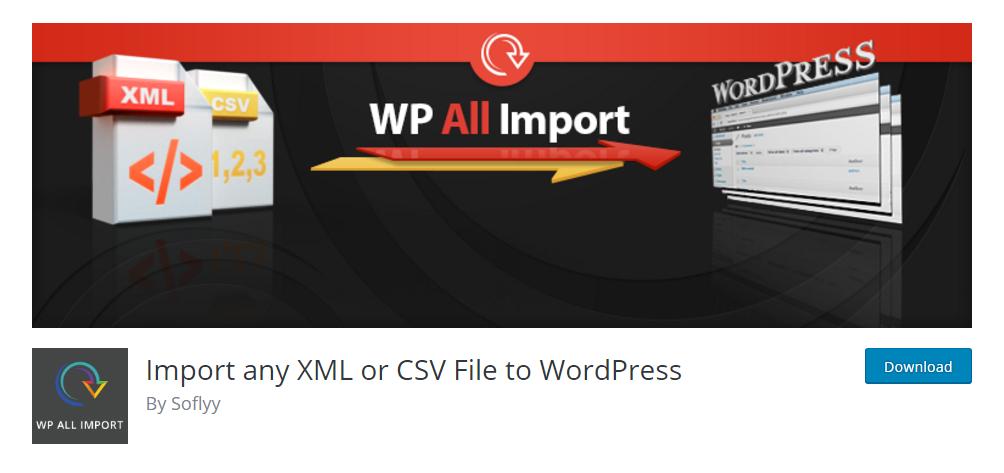 WP All Import - WordPress import export plugin