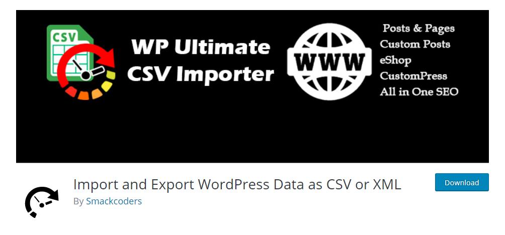 WP Ultimate CSV Importer