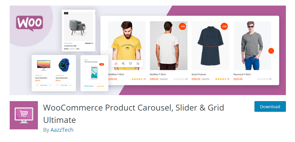 WooCommerce Product Carousel, Slider & Grid Ultimate