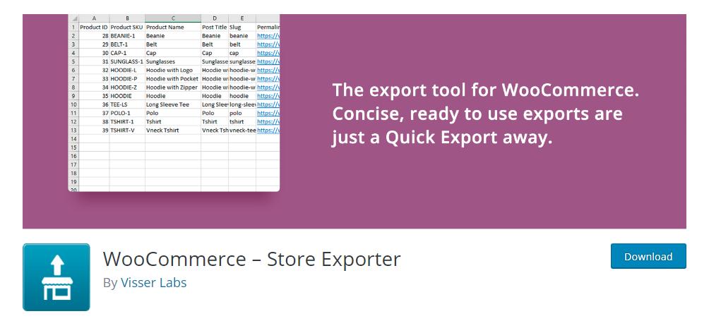 WooCommerce - Store Exporter