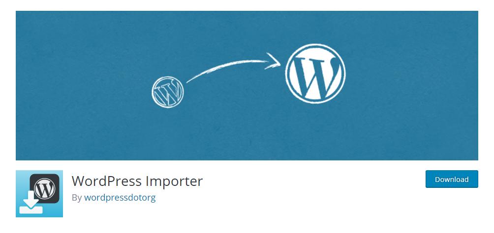 WordPress Importer - one of the best WordPress import export plugins