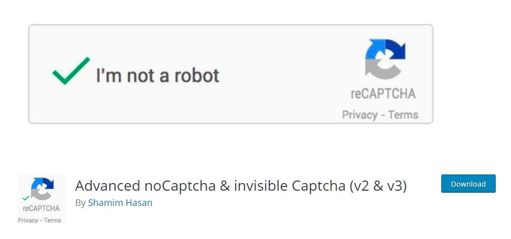 Advanced noCaptcha & invisible Captcha - Google reCaptcha plugin