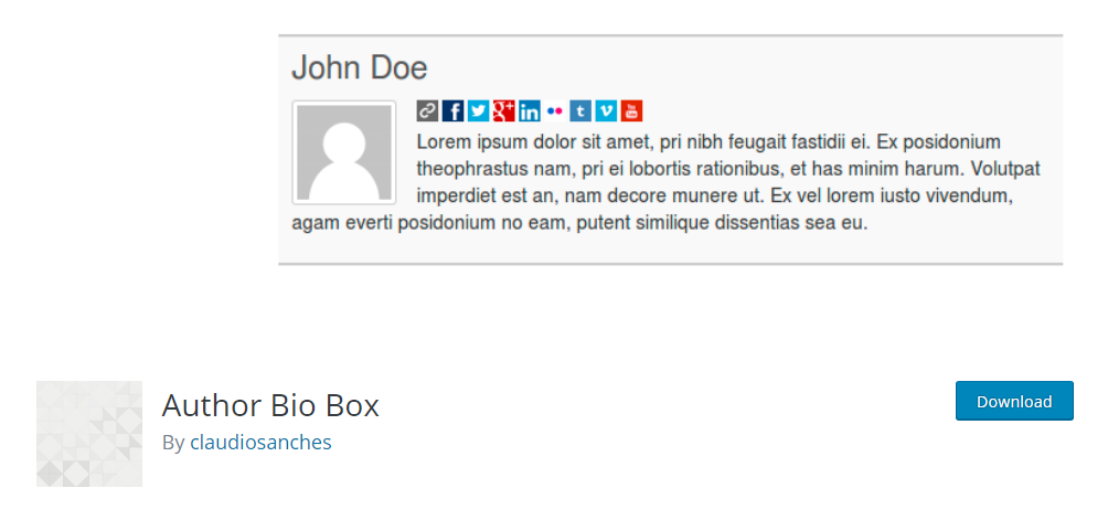 Author Bio Box - Author box plugin