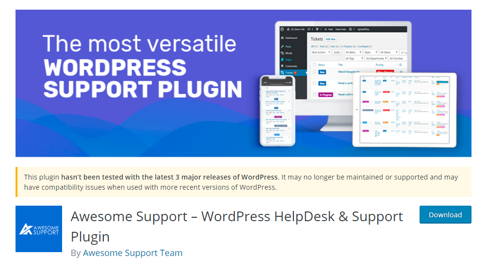 Awesome Support - WordPress HelpDesk & Support Plugin