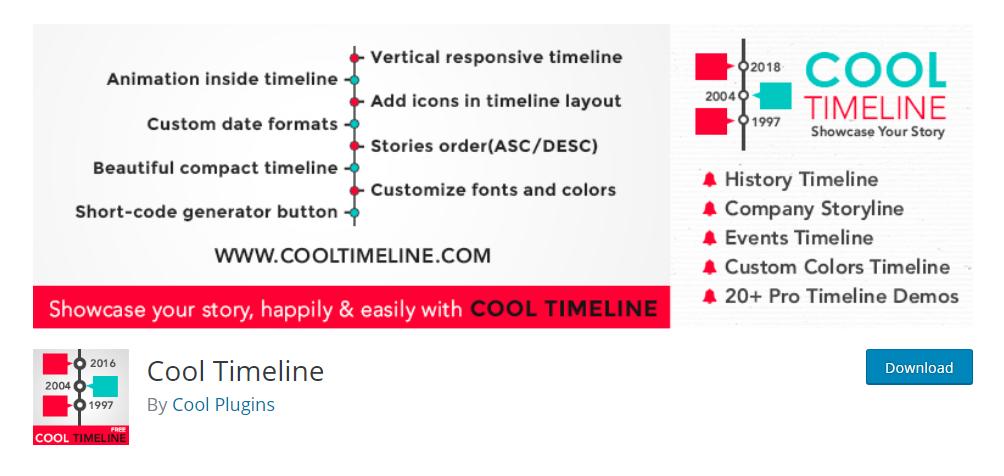 Cool Timeline - WordPress timeline plugin