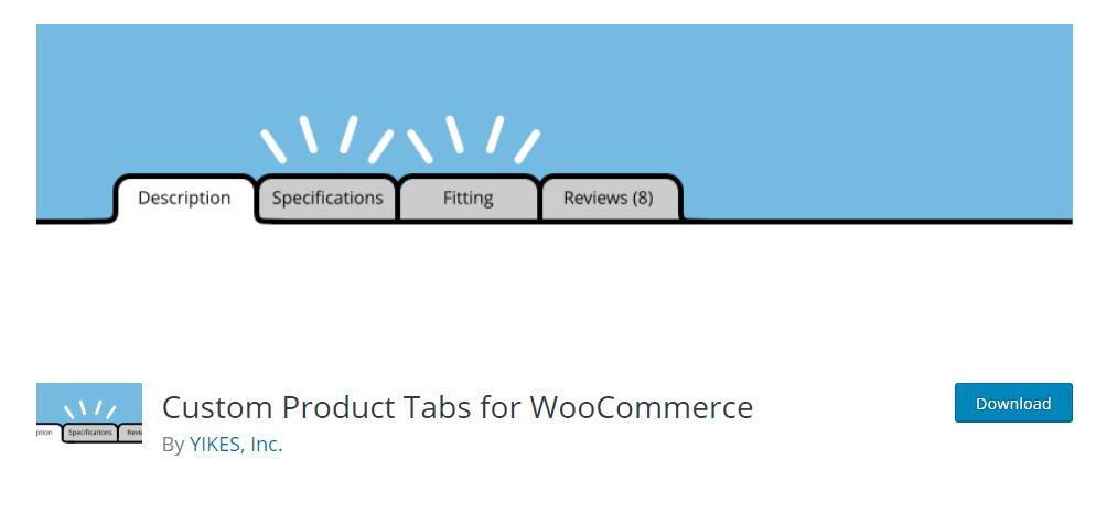 Custom Product Tabs for WooCommerce - WordPress tab plugin
