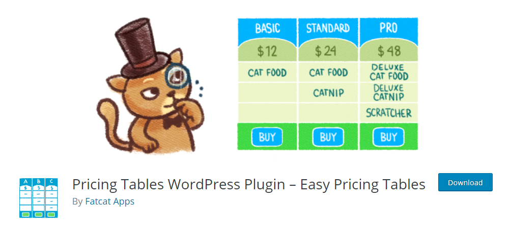 Easy Pricing Tables - Pricing Tables WordPress Plugin