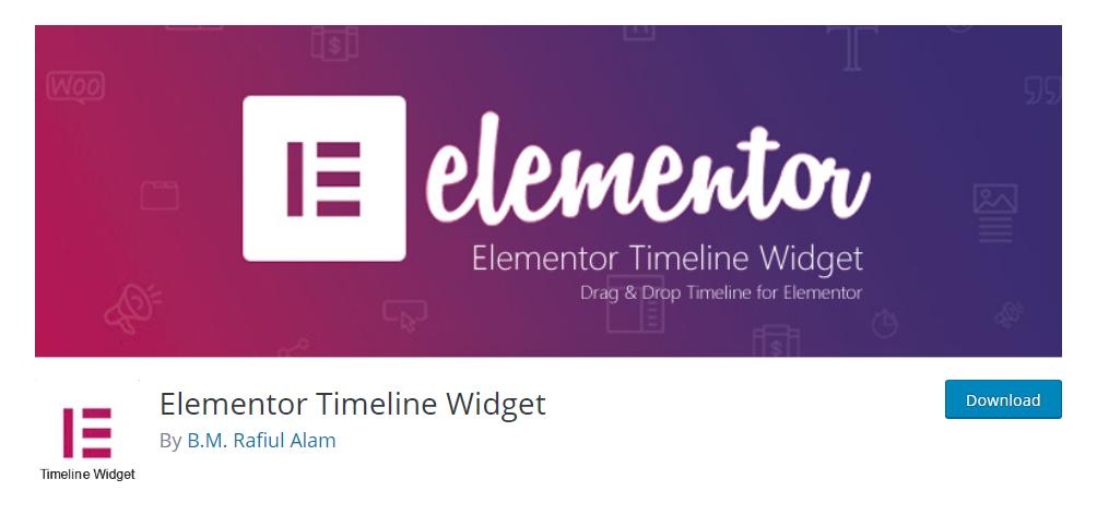 Elementor Timeline Widget