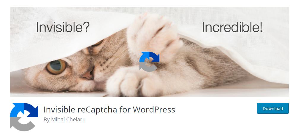 Invisible reCaptcha for WordPress - Google reCaptcha plugin
