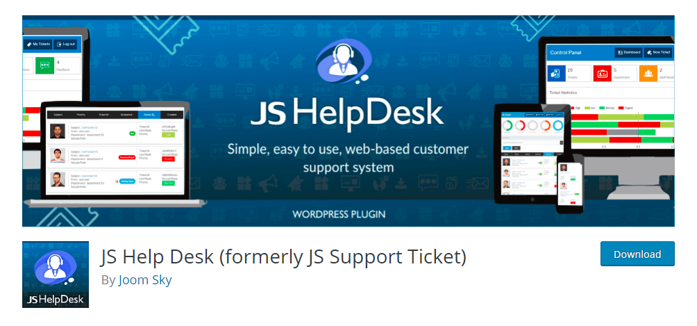 JS Help Desk - WordPress support ticket plugin