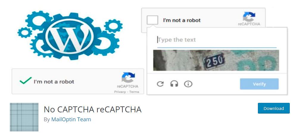 No CAPTCHA reCAPTCHA - Google reCaptcha plugin