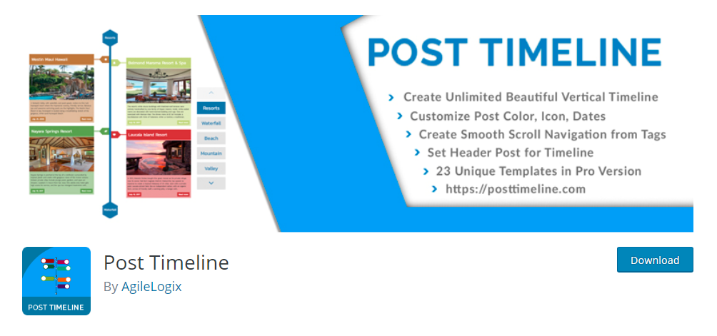 Post Timeline - WordPress timeline plugin