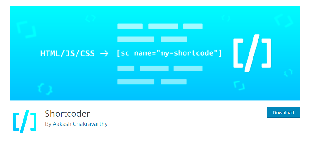 Shortcoder - WordPress shortcode plugin