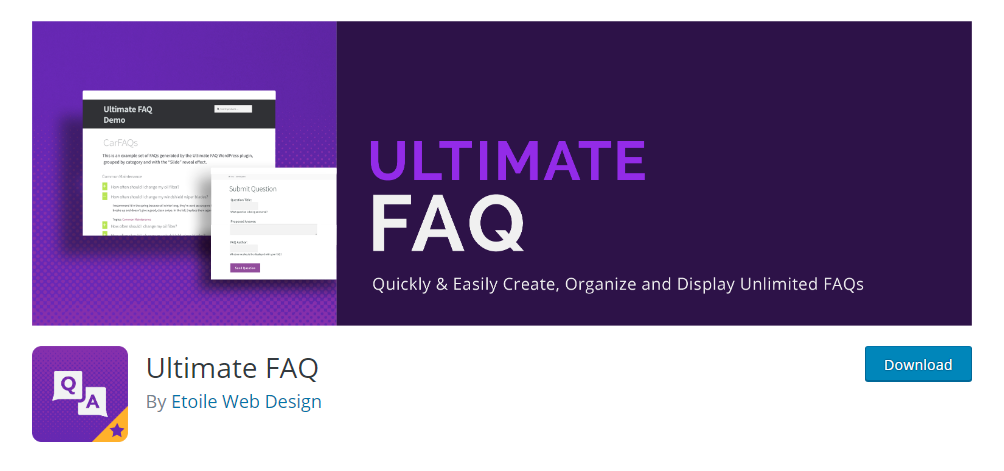 Ultimate FAQ - WordPress FAQ plugin
