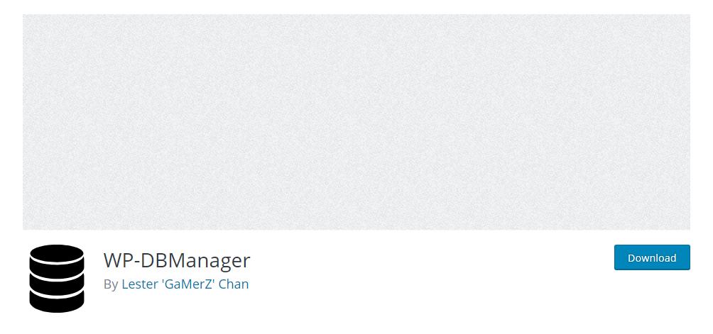 WP-DBManager - WordPress database plugin