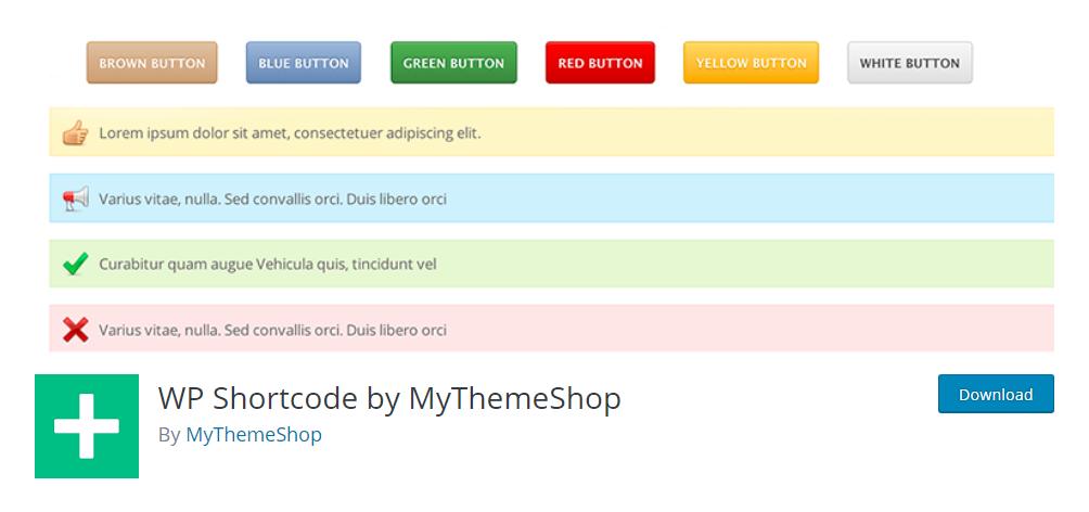 WP Shortcode by MyThemeShop - WordPress shortcode plugin