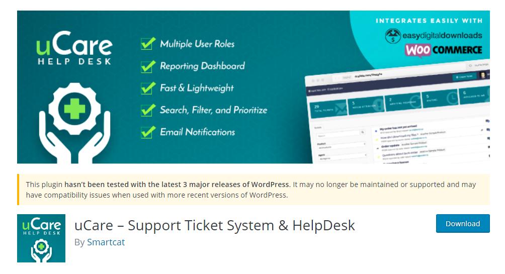 uCare - Support Ticket System & HelpDesk