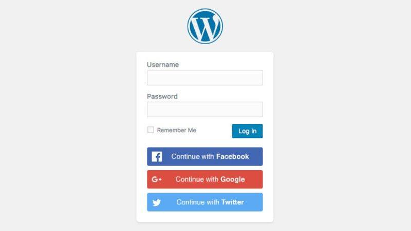 Front-end of Nextend Social Login