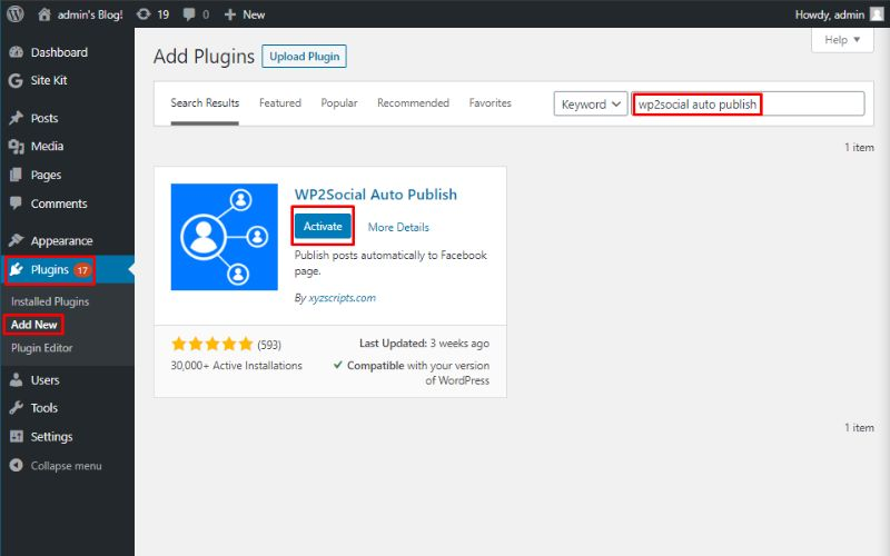 Install WP2Social Auto Publish
