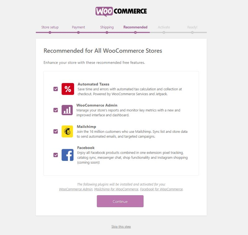 WooCommerce recommended apps