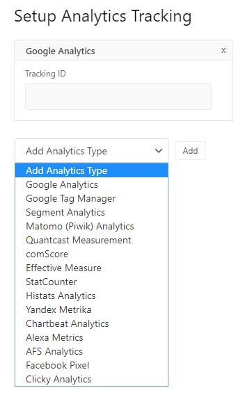 Set up analytic tracking