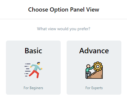 Choosing between basic and advance option - AMP for WP