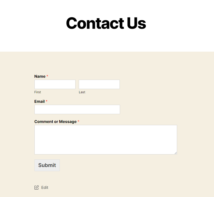 Final Contact Us page