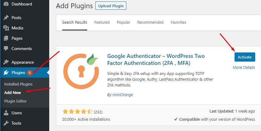 Install Google Authenticator