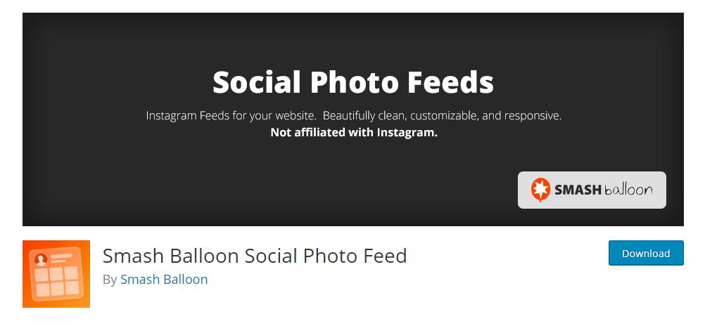 Smash Balloon social photo feed