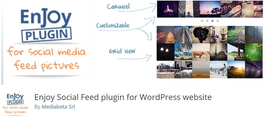 Enjoy Social Feed plugin for WordPress website