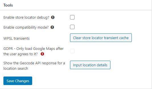 Tools - WP Store Locator